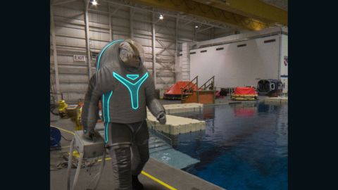 """""""Fish out of water!"""" Just because you are wearing the """"Technology"""" spacesuit doesn't mean you can cheat at Marco Polo."""