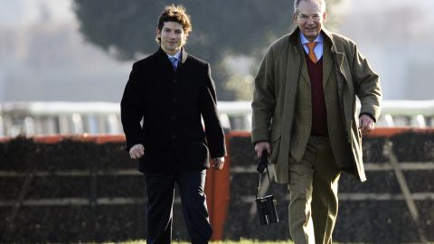 He credits his victories to his father (pictured right), who owns the horses that he rides.