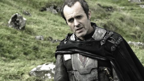 """<strong>Stannis Baratheon (Stephen Dillane): </strong>As a brother to the late King Robert Baratheon -- who held the throne before his son-in-name-only Joffrey took over -- Stannis Baratheon knows he has a rightful claim to the crown. He's gone into battle to seal his position and regularly turns to the magic of creepy """"Red Priestess"""" Melisandre (Carice van Houten) for help."""