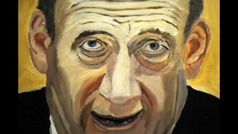 """A portrait of former Israeli Prime Minister Ehud Olmert is also part of the exhibit. Bush, who started painting lessons after he left the White House in 2009, said he hopes the leaders <a href=""""http://politicalticker.blogs.cnn.com/2014/04/03/george-w-bush-to-unveil-paintings/"""">he chose to depict</a> will take it in the right spirit."""