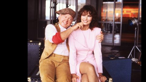 """Rooney is seen with Raquel Welch in 1980 from the ABC series """"Raquel."""""""