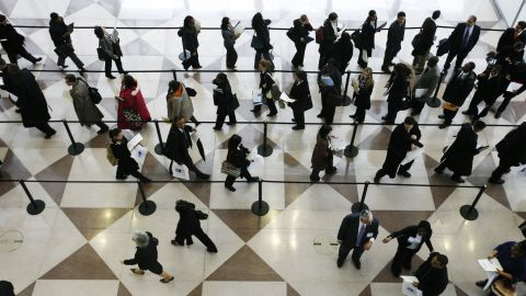 A job fair in March 2009. Unemployment rose to 10% during the Great Recession.