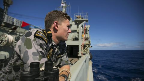 The Australian HMAS Success during the search for MH370.
