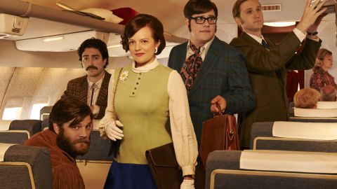 """The first half of the seventh and final season debuted in April 2014 and covered the first half of 1969. With wild cravats, bolero ties, daisy brooches and fringed jackets, these advertisers are suiting up like the creatives of the late '60s, Przybyszewski said. """"If you're in a creative field, you have to dress creatively,"""" she said of this promotional photo. """"These guys are living it."""""""