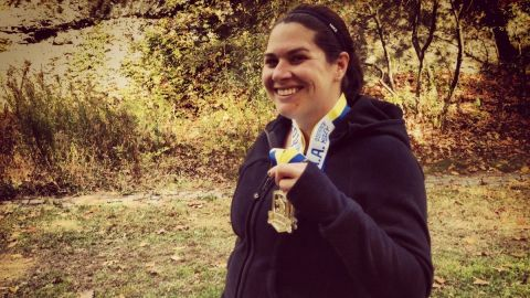 """""""Running has been a stress relief for me, but this year meant a little more,"""" said Boston resident <a href=""""http://ireport.cnn.com/docs/DOC-1063131"""">Gina Berrettoni</a>, who knew several people who were running last year's Boston Marathon. Thankfully, none of her friends were injured. She has run several races since the attack, including a 10K, a half-marathon and a relay."""