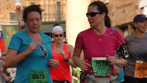 """""""So much blood, sweat and tears go into preparing for and racing a marathon and to have the fruit of your labor snatched away in such an evil manner haunted me,"""" said <a href=""""http://ireport.cnn.com/docs/DOC-1095551"""">Jennifer Kirkpatrick</a>, right, from Bonham, Texas. At the time of the bombings, she had recently run her first half-marathon. She ran another half-marathon in support of the victims and plans to run the Dallas marathon this year."""