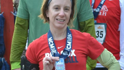 """""""The tight muscles -- the little aches and pains -- remind me that I'm alive,"""" said <a href=""""http://ireport.cnn.com/docs/DOC-1063393"""">Lori Brainard</a> of Washington. She started running in 2004, but had been on a hiatus. Brainard, who grew up in Somerville, Massachusetts, signed up for her first race after the Boston Marathon bombing."""