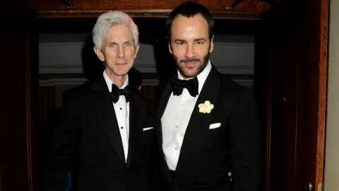 """Fashion designer Tom Ford, right, and his partner of 28 years, Richard Buckley, are married, the former Gucci craftsman confirmed to <a href=""""http://www.vogue.co.uk/news/2014/04/08/tom-ford-marries-richard-buckley"""" target=""""_blank"""" target=""""_blank"""">Vogue UK.</a> He didn't give details on the nuptials except to acknowledge that they were held in the United States. The couple are parents to a 1-year-old, <a href=""""http://celebritybabies.people.com/2012/10/05/tom-ford-welcomes-son-alexander-john/"""" target=""""_blank"""" target=""""_blank"""">Alexander John Buckley Ford</a>."""