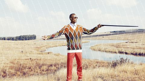 In South Africa's Eastern Cape, Xhosa men undergo an initiation, after which they must wear formal clothing for six months. <br />Knitwear designer Laduma Ngxokolo was dismayed that the formal clothes available to Xhosa men were from the West, so he created formal wear that incorporates the Xhosa aesthetic.