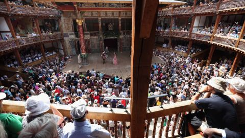 London's Globe Theatre, built in 1997, is a faithful recreation of an Elizabethan stage and sits several hundred yards from the site of the original Globe from Shakespeare's day. It stages a handful of Shakespeare plays each year.