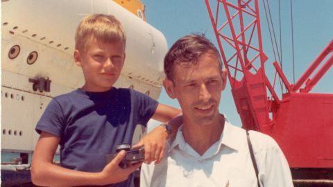 Piccard's father, Jacques, was the first man to dive to the bottom of the Marianas Trench -- the deepest point of the world's oceans.