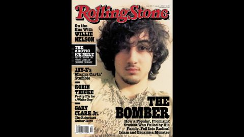 """The<a href=""""http://www.cnn.com/2013/07/17/studentnews/tsarnaev-rolling-stone-cover/"""" target=""""_blank""""> August 2013 cover of Rolling Stone</a> featured Tsarnaev and sparked a backlash against the magazine."""
