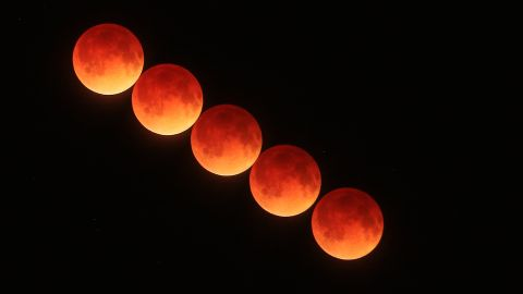 """The April 15 blood moon passes over Port Orange, Florida, in this time-lapse image from <a href=""""http://ireport.cnn.com/docs/DOC-1120659"""">Kenneth Ngyuwai</a>."""
