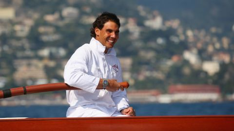 """Hailing from the island of Majorca, the 27-year-old is right at home on the sea. """"I live in front of the sea and the port is three minutes from my home,"""" Nadal said. """"I spend a lot of time on the sea when I'm at home, especially in the summer."""""""