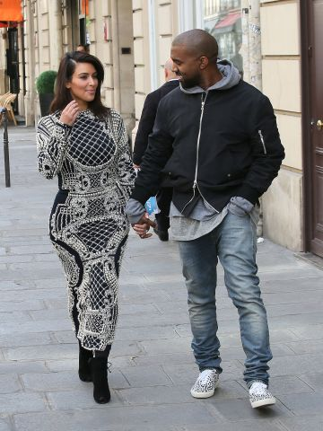 In April 2014, the evidently happy couple got gussied up for pre-wedding shopping in Paris.