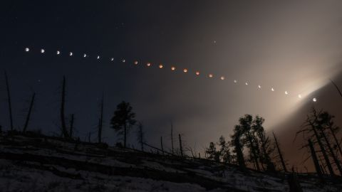"""<a href=""""http://ireport.cnn.com/docs/DOC-1121188"""">Nate Paradiso</a> created this composite image of the April 15 lunar eclipes, as seen from the foothills of Boulder, Colorado."""