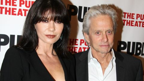 """In April 2014, a reconciled Catherine Zeta-Jones and Michael Douglas went to opening night of the """"The Library,"""" a play at the Public Theater in New York. It was the first time they'd been seen in public together since they announced their """"break"""" in August 2013. In 2015, they celebrated their 15th anniversary."""
