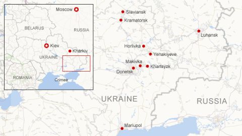 Where unrest has occurred in eastern Ukraine