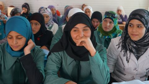 Three schools have been set up in Za'atari by Unicef.