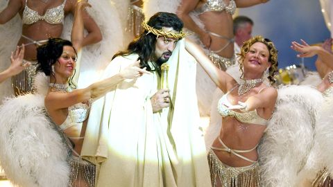 """We couldn't tell you what the connection is between Christ and musicals, but the religious figure is obviously a popular character in the genre. In 2004's """"Reefer Madness,"""" a movie musical sendup of the 1936 anti-weed propaganda film, Bob Torti played the """"hardest working man in the afterlife"""" <a href=""""http://www.youtube.com/watch?v=0zFbc5MzAxk"""" target=""""_blank"""" target=""""_blank"""">who warned against marijuana with a jazzy song. </a>"""