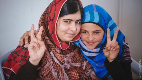 Mizune met Yousafzai when she visited the Za'atari camp in February