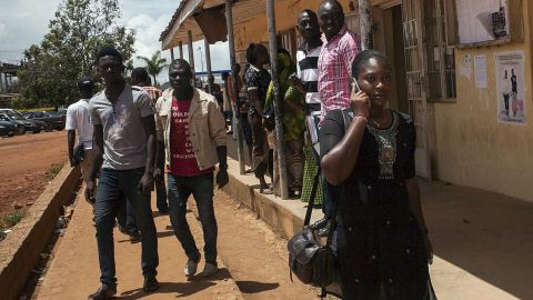 """Nigerian students from Jos Polytechnic walk on campus in Jos, Nigeria, on September 30, 2013. Under the cover of darkness, <a href=""""http://edition.cnn.com/2013/09/29/world/africa/nigeria-college-attack/"""">gunmen approached a college dormitory </a>in a rural Nigerian town and opened fire on students who were sleeping. At least 40 students died, according to the News Agency of Nigeria."""