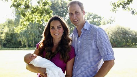 """The """"Kate Effect"""" is now a well-documented phenomenon. This picture of new mother Kate wearing maternity brand Seraphine, while posing for her first official portrait with William, increased the label's turnover by 50% in 2013."""