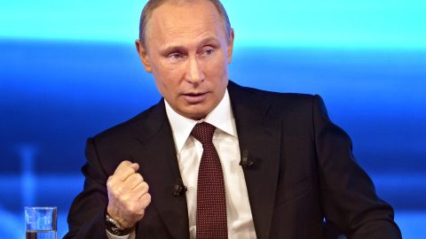 Alexander Motyl says Russian President Vladimir Putin took a belligerent stand on Ukraine in an interview on April 17.