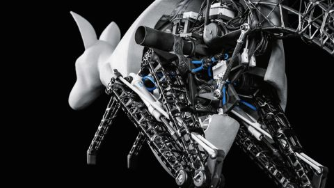 Achieving locomotion through jumps is surprisingly effective for kangaroos: here is Festo's robotic version.