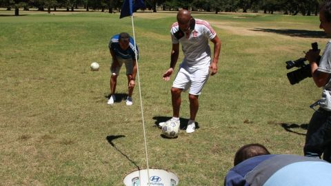 FootGolf has proved to be hugely popular with footballers. Former Argentina international Juan Sebastian Veron is an ambassador for the Asociacion Argentina de FootGolf.