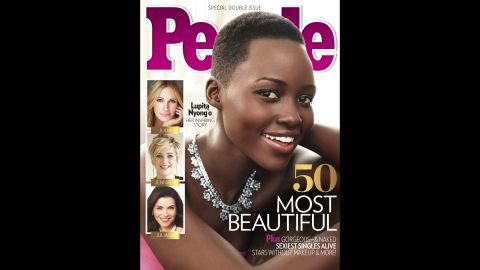 """Nyong'o won a best supporting actress Oscar for her performance in """"12 Years a Slave,"""" her first major role. In April 2014, she <a href=""""http://www.people.com/people/package/article/0,,20360857_20809287,00.html"""" target=""""_blank"""" target=""""_blank"""">was named People magazine's most beautiful person of 2014. </a>"""