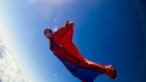 """<strong>Inlets:</strong><br /> <br />Human flight is all about inflation.<br /> <br />The suit must become rigid to start flying and design development in recent years has meant that suits now inflate much more quickly -- making jumps from lower cliffs possible for the first time.<br /> <br />""""Air-locked"""" vents on the bottom of the suit allow air pressure to build without air escaping and force the suit to take shape."""