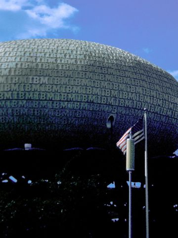 At the ominous IBM Pavilion, many people got their first look at a computer system.