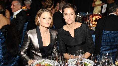 """Jodie Foster, left, is adept at keeping her private life low-key. The actress quietly wed her girlfriend, photographer Alexandra Hedison, in mid-April 2014. According to <a href=""""http://www.eonline.com/news/534871/jodie-foster-marries-girlfriend-alexandra-hedison"""" target=""""_blank"""" target=""""_blank"""">E! Online</a>, the couple had been dating for almost a year."""