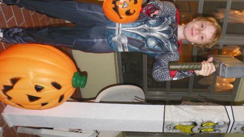 Wyatt Falardeau of Vero Beach, Florida, dressed as Thor for Halloween last year.