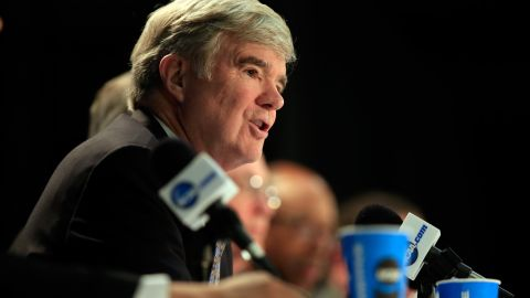 """<strong>NCAA President Mark Emmert:</strong> """"To be perfectly frank, the notion of using a union employee model to address the challenges ... strikes most people as a grossly inappropriate solution to the problems,"""" Emmert said. """"It would blow up everything about the collegiate model of athletics."""""""