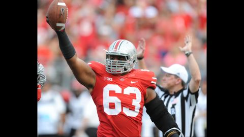 """<strong>Ohio State football player Michael Bennett:</strong> """"I don't necessarily agree with football players being unionized,"""" the defensive lineman told The Lantern. """"... The cost of living's going up and I don't think that our stipend is going up, so obviously a little bit more money is nice, but I'm not really in the business of trying to force people to do that."""""""