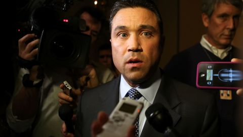WASHINGTON, DC - JANUARY 02: U.S. Rep. Michael Grimm (R-NY) speaks to the media prior to a meeting regarding the Sandy aid bill with Speaker of the House Rep. John Boehner (R-OH) January 2, 2013 on Capitol Hill in Washington, DC. The House Republican leadership was criticized for not acting on the Senate passed legislation for Hurricane Sandy disaster aid. (Photo by Alex Wong/Getty Images)