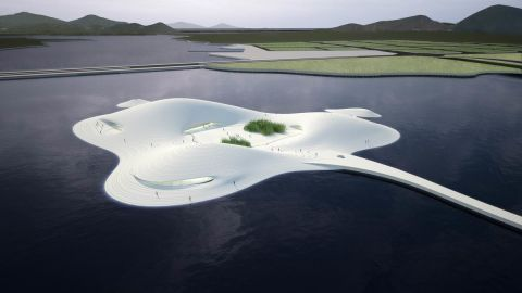 The Pingtan Art Museum will be built in China in the next few years on an artificial island strategically located in Fujian to promote closer ties between China and Taiwan.