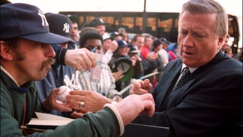 """The late New York Yankees owner George Steinbrenner was suspended from baseball for making illegal campaign contributions to Richard Nixon in 1974. He was banned for life in 1990 after paying a gambler $40,000 to get damaging information about a player, <a href=""""http://www.cnn.com/2010/US/07/13/steinbrenner.obit/"""" target=""""_blank"""">but Major League Baseball reinstated him three years later</a>."""