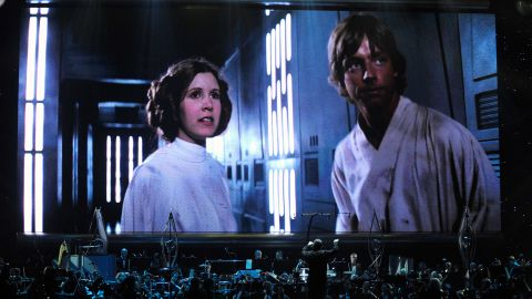 Actress Carrie Fisher's Princess Leia Organa character and actor Mark Hamill's Luke Skywalker character will be returning to the screen in 'Star Wars: Episode VII.'