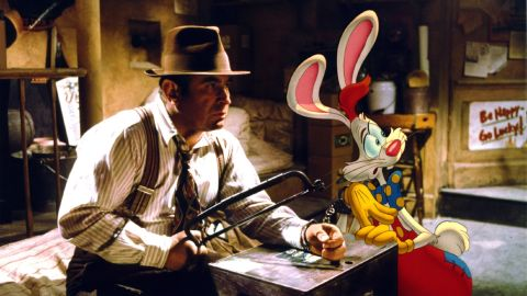 """Bob Hoskins, who died Tuesday, April 29, at 71, was known for playing tough guys with soft hearts. In 1988's<strong> """"Who Framed Roger Rabbit,"""" </strong>probably his most famous film, he plays detective Eddie Valiant, who agrees to help the title character, who's being accused of murdering a local power broker."""