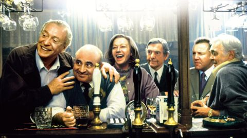 """In 2001's<strong> """"Last Orders,""""</strong> the actor was part of a terrific cast -- from left, Michael Caine, Hoskins, Helen Mirren, Tom Courtenay, Ray Winstone and David Hemmings -- in a film about friends who gather to honor the last wishes of Caine's character."""