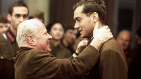 """Hoskins is Nikita Khrushchev in 2001's<strong> """"Enemy at the Gates.""""</strong> Jude Law plays a Soviet soldier during the siege of Stalingrad."""