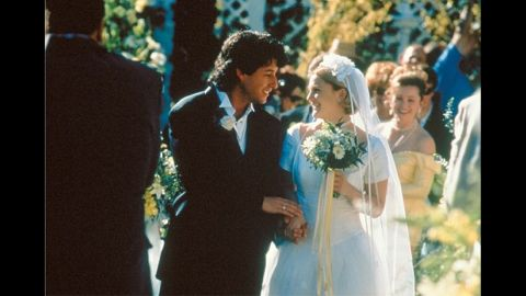 """<strong>""""The Wedding Singer"""":</strong> When's a horrible time to meet your soul mate? When you're about to get married to someone else. In this 1998 comedy, Adam Sandler plays a wedding singer with a star-crossed crush on a bride-to-be (Drew Barrymore)."""
