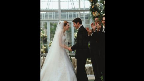 """<strong>""""American Wedding"""":</strong> The """"American Pie"""" gang has grown older and graduated to wedding cake in this 2003 sequel, but that doesn't mean they've grown up. At the nuptials of Michelle and Jim (Alyson Hannigan and Jason Biggs), messy antics ensue. (And yes, Stifler's mom makes quite a splash.)"""