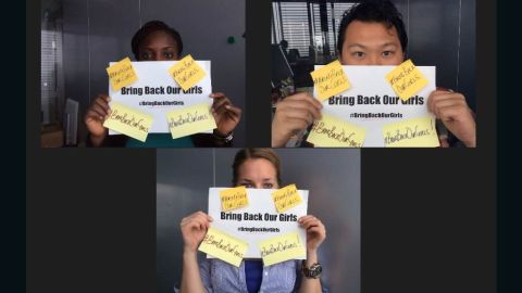 Angry Nigerians took to social media using hashtag #BringBackOurGirls and #BringBackOurDaughters to demand more from the government in the search for 230 girls abducted in Nigeria.