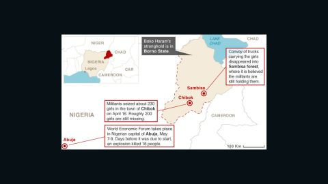 Map: Where the girls were kidnapped