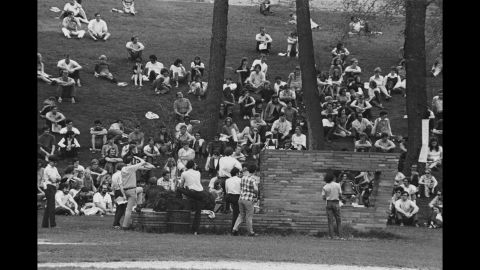 On Friday, May 1, 1970, students at Kent State stage a protest on campus, the first in a series of protests.