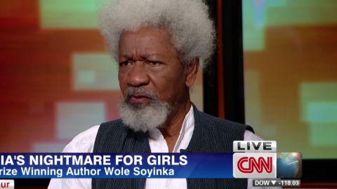 intv amanpour nigeria bring back our girls nobel author writer Wole Soyinka denial_00015613.jpg